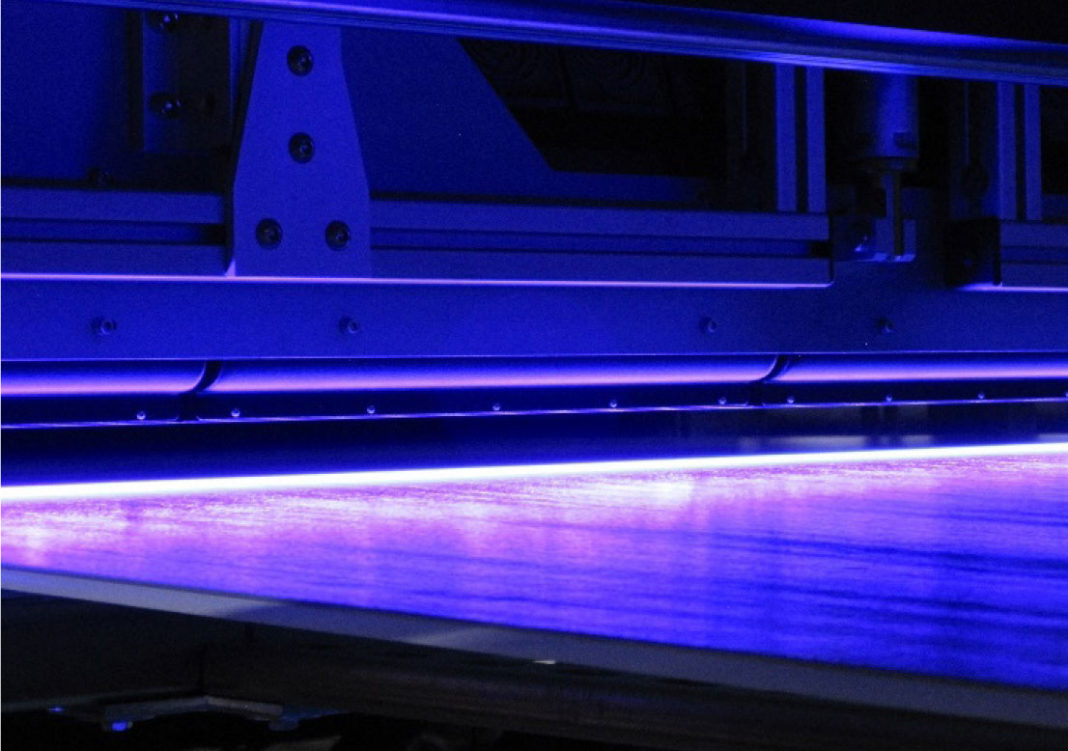 UV LED on a wide web coater