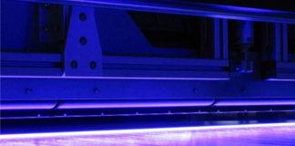 UV LED on a wide web coater